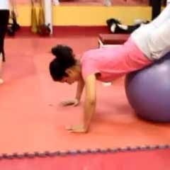 Stability Ball Reverse Hyperextensions