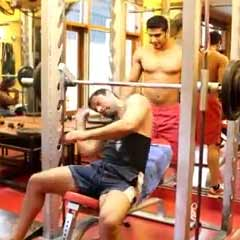 Incline Smith Bench Press - 190lbs -Moez Aryan - DC - Rest/Pause